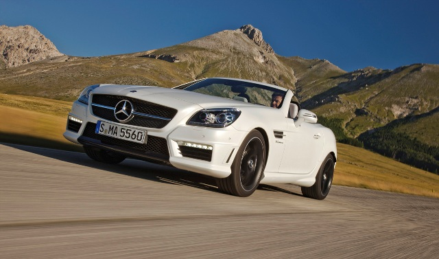 2012 Mercedes-Benz SLK55 AMG shown with optional AMG Handling Package.